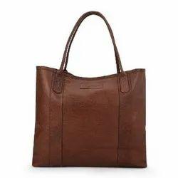 Brown Leather Ladies Hand Bag