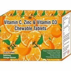 Vitamin C, Zinc & Vitamin D3 Chewable Tablet