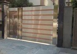 Hinged Modern Steel Gate
