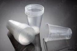 Transparent Plain Disposable Plastic Glass, 2 Mm