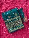 Unstitched Embroidered Salwar Suit