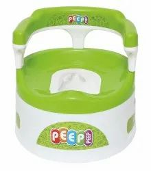 Green Baby Potty Seat With Back Support