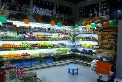 Mild Steel Fruits And Vegetable Racks, For Supermarket