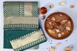 Soft Lichi Silk Saree For Wholesaler