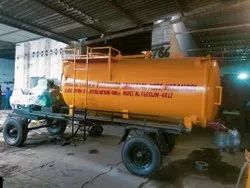 Engine Operated Sewer Suction Cum Jetting Machine Mounted On Four Wheel Trailer Chassis.