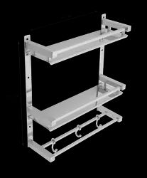 Stainless Steel Square Bathroom Shelf, Packaging Type: 1 Pcs, Size: L 15