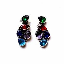 Multi Gemstone Designer Earrings