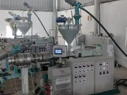 panchveer 3 Phase Twin Screw PVC Dual Pipe Machine, For Industrial, 240v