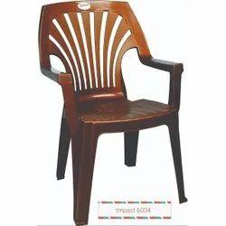 Brown Plastic Designer Chair