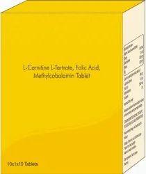 L-carnitine, L- Tartrate, Folic Acid, Methylcobalamin Tablet