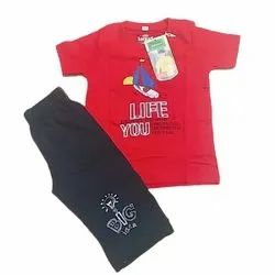 Red And Black Girl & Boy Kids Hosiery Baba Suit