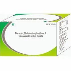 Diacerein, Methylsulfonymethane & Glucosamine Sulfate Tablet