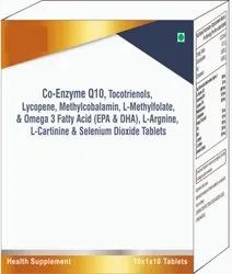 Co-enzyme Q10, Tocotrienols, Lycopene, Methylcobala Selenium Diocide Tablets