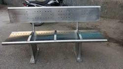 Stainless Steel Railway Bench 4 Seater