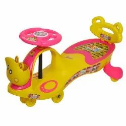 Young Wheel Pink Swing Car With Back Support