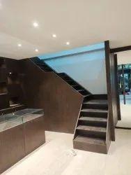 Teak Wood Plywood Laminate Wooden Staircase