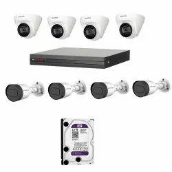 CP PLUS IP 2MP CCTV Camera KIT 8CH NVR 4 Bullet & 4 Dome Camera 2TB Hard Disk SURVEILLANCE