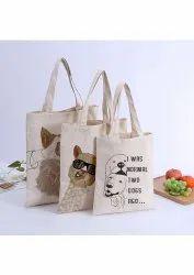 Long Handle Designer Cotton Bags, Capacity: 15 Kg