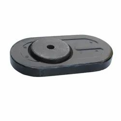 Oval Gray Slide Gate Refractories, Size: 9 x 3 x 2 inch