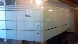 Hinged Plain Office Toughed Glass Door, Thickness: 8mm