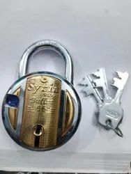 With Key Closed / Disc Syria Bullet Padlock 56MM, Packaging Size: > 100 Pieces, Chrome