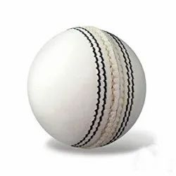 White Leather Cricket Ball, 163 G
