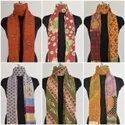 Vintage Cotton Kantha Quilt Handmade Sarang Scarves