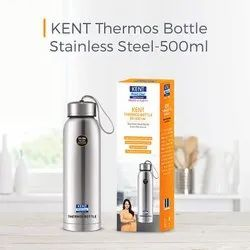 Kent Stainless Steel Thermos Bottle, 500 ml, Silver, For Home