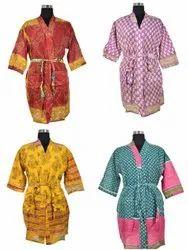 Old Cotton Sari Kimono