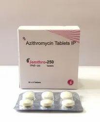 JEMTHRO-250 Azithromycin 250mg Tablet, 60 Tablets