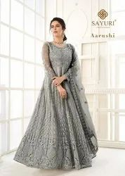 Aashirwad Creation Aarushi Butterfly Net Embroidered Designer Suit Catalog