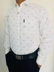 Printed Men Designer Cotton Shirt