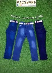 Casual Wear Stretchable Kids Denim Jeans, Size: 20-30, Machine wash