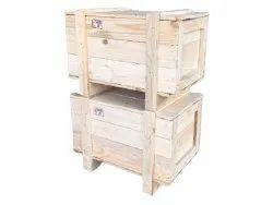 Rectangle Heat Treated Radiata Pinewood Packaging Case, Capacity: 120kg