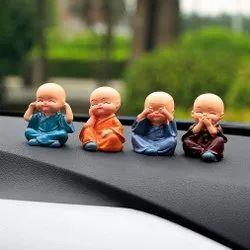 MIx 4 Pcs Monk Car Decoration