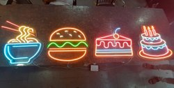 Acrylic Multicolor Neon Led Sign Board, For Advertising
