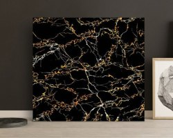 Granite Black Non Slip Household Glazed Tile, Thickness: 15mm, Size: Medium