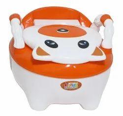 Orange Baby Potty Seat With Armrest