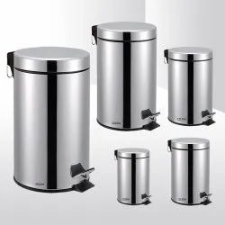 Plastic and Metal Dustbin
