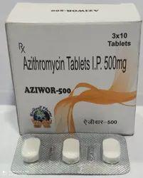 Aziwor-500 Azithromycin 500mg Tablets