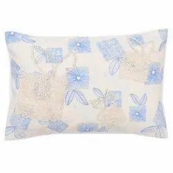 蓝色印刷家居装饰棉扔枕刺绣垫,尺寸:40cm x 60cm