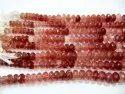 Natural Strawberry Quartz 11-12mm Rondelle Faceted Gemstone Beads