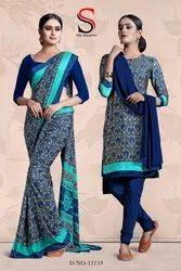 School Uniform Saree And Salwar Suit Combo