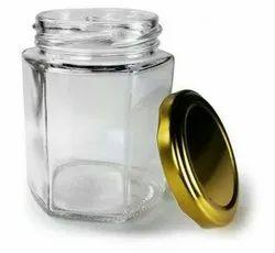 250 Ml Hexagonal Glass Jar