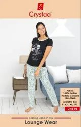 Cotton Printed Women Clothing sleepwear, S to XXL, 18-50