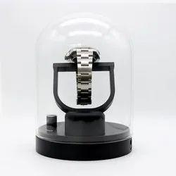 Medetai M1 Auto Silent Watch Winder Oval Shape Wristwatch Box With Us Plug (black)
