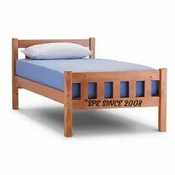 Rubber Wooden Single Cot Bed