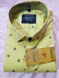 J STOBER Collar Neck mens shirt
