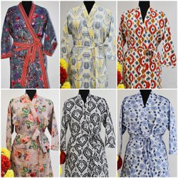CASUAL WEAR Multicolor KIMONO PRINTED DRESS, Size: Adjustable