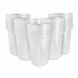 Transparent 250ml Disposable Plastic Glass, 2.1mm